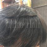 前髪の厚みを増やす
